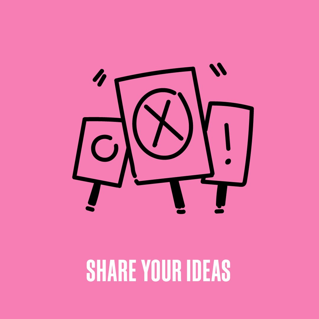 Share your ideas image